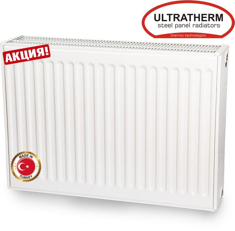 Стальной радиатор Ultratherm (Турция) 22 тип 600H x1400L бок. подкл.