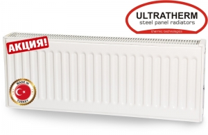 Стальной радиатор Ultratherm Тип 22 300х600 боковое подключение (Турция)
